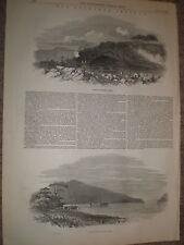 Les Auckland Islands New Zealand 1848 OLD PRINT et l'article