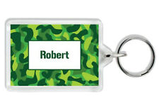 Personalised Camo Army Soldier Bag Tag Keyring - Add Any Name - School/Home-Gift