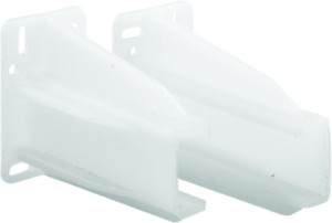 Prime-Line MP7227 Drawer Track Back Plate, Plastic, White 5/16 in. x 7/8 in