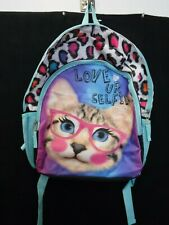 GIRLS ACCESSORIES 22 CAT LOVE UR SELFIE BACKPACK SCHOOL NEW #17373