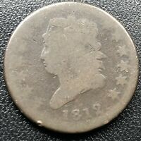 1812 Large Cent Classic Head One Cent 1c Rare Circulated #17717