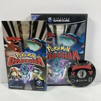 Pokemon Colosseum (GameCube, 2004) COMPLETE! Tested & Working! CIB Black Label