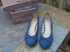 Ladies sandals / shoes / pumps 1.5 in wedge heel - Tamaris suede leather size 36