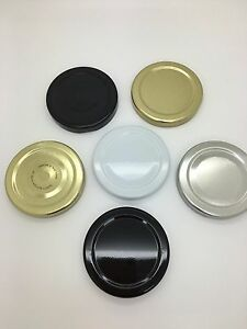 Replacement Jam Jar Lids 58mm Twist Off - in choice of colours - Pack of 50