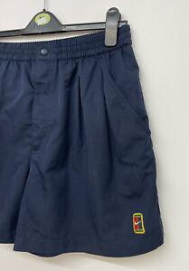 Nike Court Vintage Tennis Shorts Navy Blue -  Size L - A94