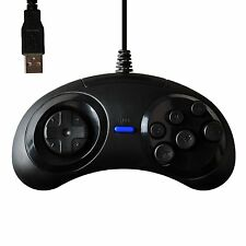 USB 6 Button Sega Genesis Classic Controller GamePad Joypad für PC Emulator