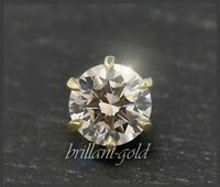 Solitär Diamant 585 Gold Brillant Anhänger 0,80ct, champagner, VS; Damen Gleiter