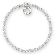 Thomas Sabo Women-Charm Bracelet Charm Club 925 Sterling Silver Length 18.5 cm