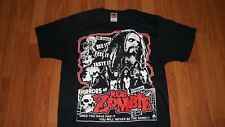 (1 SIDED) Metal Rock Group ROB ZOMBIE Horrors of T-Shirt Medium mens womens