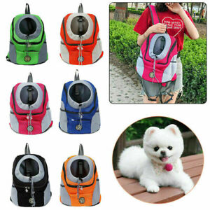 UK Portable Pet Dog Carrier Puppy Backpack Mesh Travel Carrying Bag Shoulder Bag
