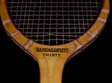 Antique Vintage Wood 1920 Narragansett THIRTY Tennis Racket