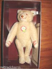"""❤Steiff Dicky Replica 1930 Teddy Bear 407574 White 13"""" NRFB COA MINT 1992 Lt Ed❤"""
