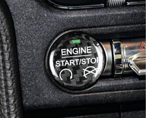 Carbon Fiber Start Button for Ford Mustang 2015-2020 v6 ecoboost gt350