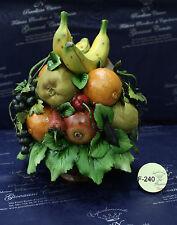 Cesto con Frutta - Capodimonte Porcellane Carusio