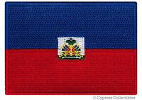 HAITI FLAG embroidered iron-on PATCH HAITIAN CARIBBEAN EMBLEM applique