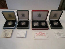1990 UNITED KINGDOM COLLECTION OF 5 STERLING SILVER PROOF COINS - MINT CONDITION