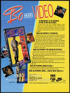 BO JACKSON : BO KNOWS BO__Original 1991 Trade print AD / ADVERT promo__NFL__MLB