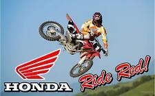 Honda CR CRF Banner Moto Dirt Sign Flag #1 High Quality!!