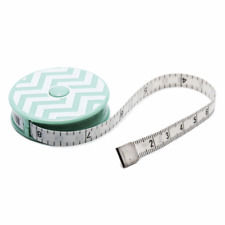 """Tape Measure 150cm/60"""" Retractable Chevron Green"""