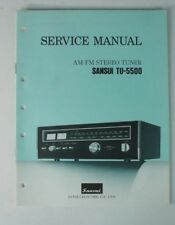 Service Manual SANSUI tu-5500 Stéréo Tuner-Schéma Instructions Anglais b6723