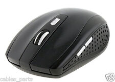 2.4GHz Cordless Wireless Optical USB Mouse Mice 4 Laptop PC Black #B