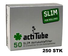 250x (5x 50 Stk) actiTube AKTIVKOHLEFILTER SLIM, 6,9mm Durchmesser