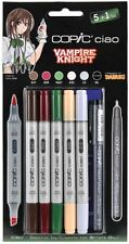 COPIC CIAO PENS - 5 + 1 VAMPIRE KNIGHT SET - GRAPHIC ART MARKERS + FINELINER