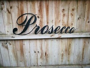 Prosecco Letters lettering Sign Metal Home bar Pub Vintage Kitchen