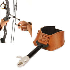 NEW Archery Accessorie Compound Bow Leather Release Aids Gear Hardcore Buckle