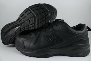 NEW BALANCE 608 EXTRA WIDE 4E BLACK MX608AB5 SLIP RESISTANT SAFETY TRAINER MENS
