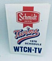 1978 Minnesota Twins Baseball TV Schedule Schmidt Beer #D