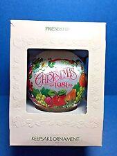 "Hallmark ""Friendship"" Ball Ornament 1981"