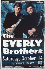 Everly Brothers 2000 Denver Concert Tour Poster -Rockabilly, Rock & Roll Legends