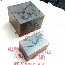 Small Set Paired Oil-Painted Boxes • Oil & Spray Paint on Cardboard • 2006