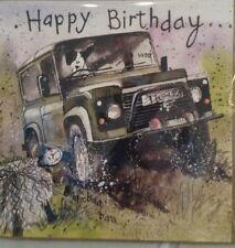 Landrover off roading Happy Birthday card by Alex Clark