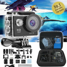 Waterproof Sports Camera DV With Carry Case Bundle HD Action Helmet Camcorder UK