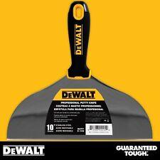 "DEWALT Putty Knife 10"" Stainless Steel Flexible Drywall Joint Paint Scraper"