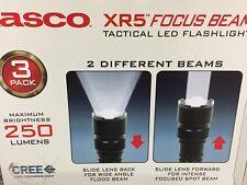 New Tasco XR5 focus beam Tactical Flashlights 250 Lumen Cree LED Aluminum Body