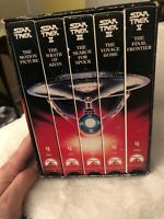 Star Trek The Movies 25th Anniversary Collector's Five (5) VHS Video Set #12953