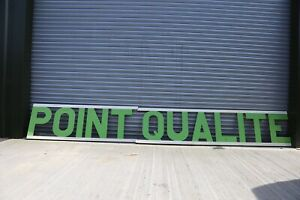 Industrial Vintage French Lettering 'Point Qualite'
