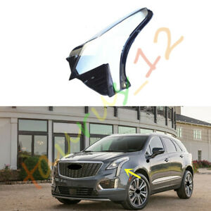 Left/ Driving Side Clear Headlight Cover+Glue Fit For Cadillac XT5 2015-2020