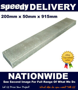 Concrete Edging Flat Top 200mm x 915mm x 50mm Multiple Quantities Available