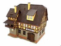 Großes Fachwerkhaus mit RATSKELLER BELEUCHTET Spur N C1061