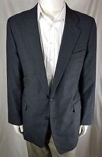 Hickey Freeman 44L Charcoal Jacket Sport Coat Blazer 100% Wool