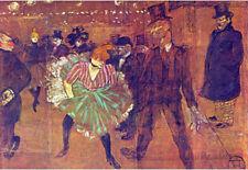 Henri de Toulouse-Lautrec Ball at Moulin Rouge Art Print Poster Poster, 19x13