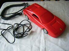 Vintage Betacom Red Ferrari Car Landline Telephone, Retro