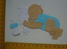 Stanzteile  Kartenschmuck   Sticker   Baby blau