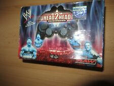 PS2 Dual Shock Wired Controller head 2  head wwe boxed official