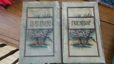 """1909 Antique Boxed Gift Book To My Friend,  """"FRIENDSHIP"""" Barse & Hopkins"""