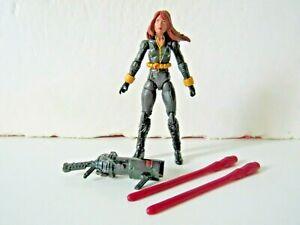 """Marvel Avengers Assemble Shield Gear Black Widow 4"""" Figure w/ Inferno Cannon"""